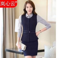 Skyheart - Vest / Blazer / Blouse / Dress Pants / Pencil Skirt / Set