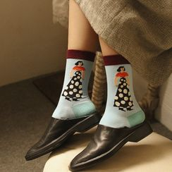 Saysmith - Cartoon Print Socks