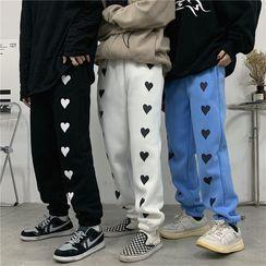 LINSI - Heart Print Sweatpants