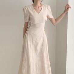 Roah - 短袖系带中身A字连衣裙