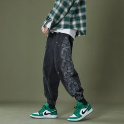CooLook - Paisley Print Panel Jeans