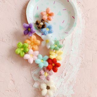 Hello minto - Flannel Flower Hair Clip