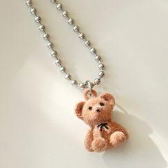 Cute Essentials(キュートエッセンシャルズ) - Bear Flannel Pendant Necklace