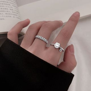 River Sur - Fortune Cat / Coin Sterling Silver Ring (various designs)