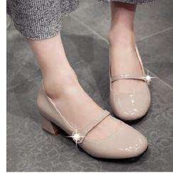 Freesia - 低跟漆皮玛莉珍鞋