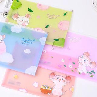 SASHI - Mouse Print  Plastic A4 Document Pouch