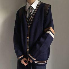 GRAYCIOUS - 配色邊開衫 / 飾口袋九分哈倫褲