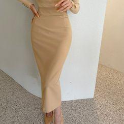 DABAGIRL - Slit-Back Midi Pencil Skirt