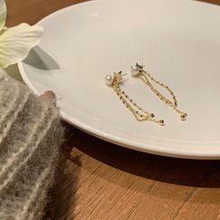 Calypso - Faux Pearl Fringed Earring