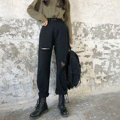 CosmoCorner - 做旧宽松牛仔裤