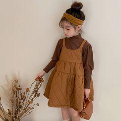 tadprosh - Kids Puff-Sleeve T-Shirt / Pinafore Dress
