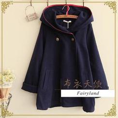 Kawaii Fairyland - Double-Breasted Hooded Coat