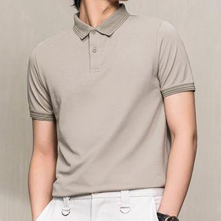 Orizzon - Plain Short-Sleeve Polo Shirt