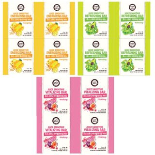 HAPPY BATH - Juice Smoothie Bar 90g x 4pcs (3 Types)