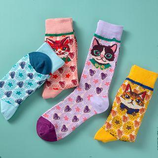 Saysmith - Set of 4: Printed Socks