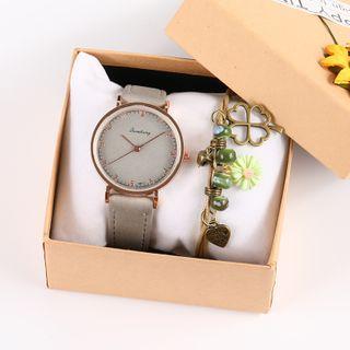 Epoca - Faux-Leather Strap Watch