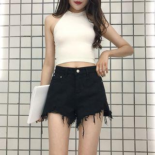 Anlay - Frayed Denim Shorts