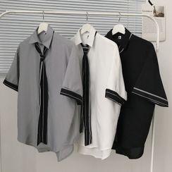 Downtown - Neck Tie Short-Sleeve Shirt