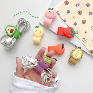 Phone in the Shell - Fruit Phone Cable Organizer