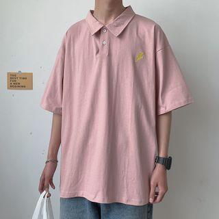 Deepwood - 中袖刺绣马球衬衫