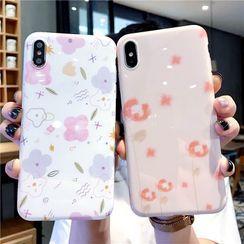 NISI - Floral Print Mobile Case - iPhone 11 Pro Max / 11 Pro / 11 / XS Max / XS / XR / X / 8 / 8 Plus / 7 / 7 Plus / 6s / 6s Plus