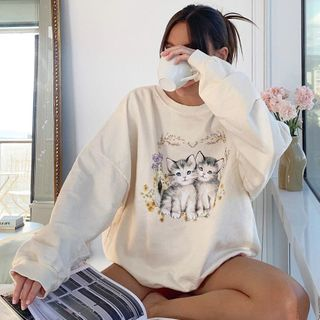 Trisica - Cat Print Sweatshirt