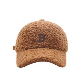 HARPY - Embroidered Lettering Shearling Baseball Cap