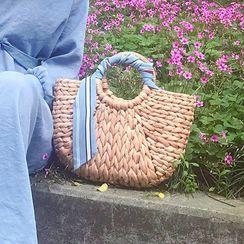 Elencee - Round Handle Woven Handbag