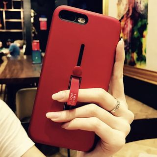 Bronunos - 純色手機保護套連支架 - iPhone XS / X / 8 / 8 Plus / 7 / 7 Plus / 6s / 6s Plus / vivo / Xiaomi / Huawei / OPPO