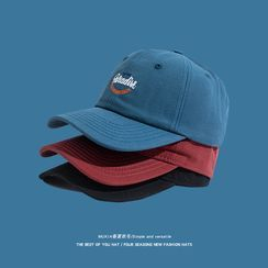Hat Society(ハットソサイエティ) - Letter Embroidered Baseball Cap
