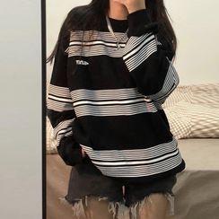 Hevnir - Striped Sweatshirt