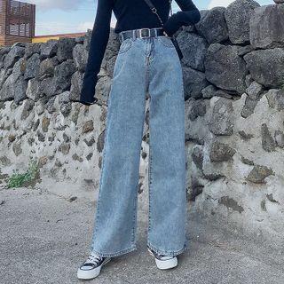 Denimot - Washed Wide-Leg Jeans