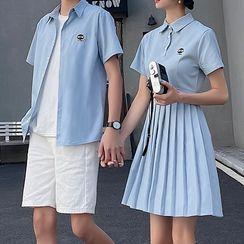 Tabula Rasa - 情侶款短袖襯衫 / 打褶襉連衣裙 / 短褲