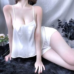 Hakuba - Lingerie Set: Strappy Top + Shorts