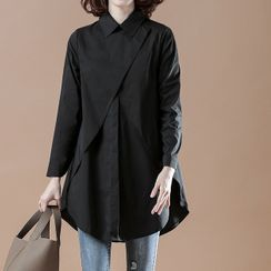 Lewwe - Long-Sleeve Asymmetrical Tunic Shirt