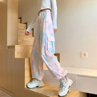 Juku Girls - Tie Dye Cargo Harem Pants