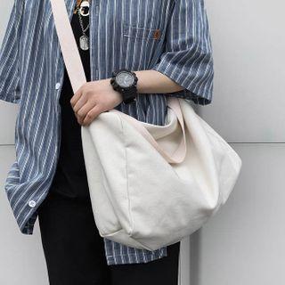 EAVALURE - Plain Canvas Zip Crossbody Bag