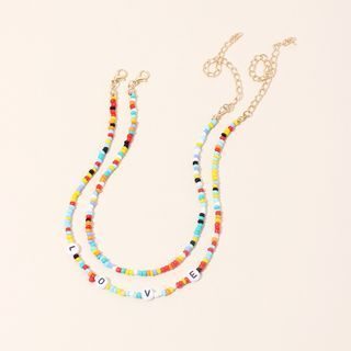 Vonluxe - Alphabet Bead Layered Necklace