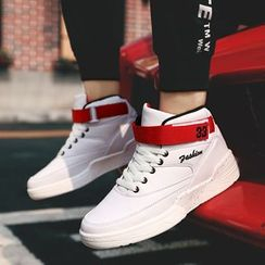 Auxen - 插色高帮休閒鞋