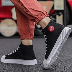 JACIN - Logo Canvas High-Top Sneakers