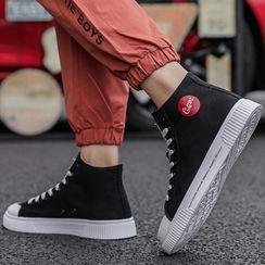 JACIN - 标志帆布高帮休閒鞋