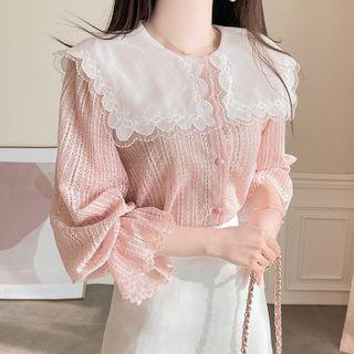 MyFiona - Sailor-Collar Lace Blouse
