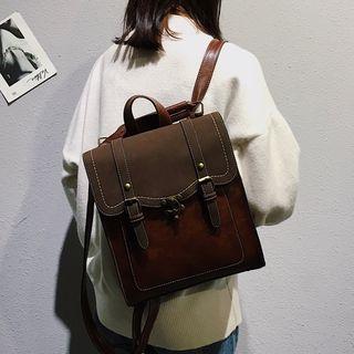 MUSA - 仿皮扣子背包