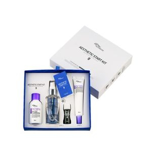 TROIAREUKE - Aesthetic Start Kit: Oil Cut Cleansing 55ml + Skin Complex Toner 50ml + Anti Trouble Formula Ampoule (Green) 20ml + Recovery Cream 25ml