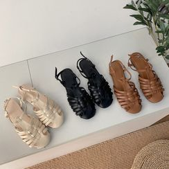 Youaisha - Faux Leather Roman Sandals
