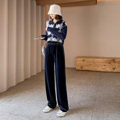 Luminato - Velvet Wide-Leg Pants
