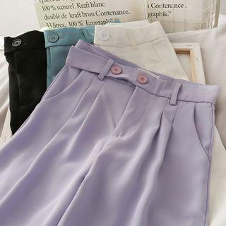 Lemongrass - High-Waist Wide-Leg Dress Pants