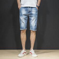 Denimic - Washed Denim Shorts