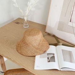 NANING9 - Beribboned Raffia Sun Hat