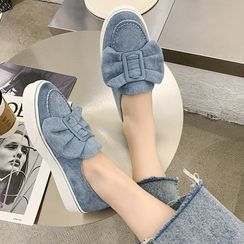YAYNAY - 飾蝴蝶結厚底輕便鞋